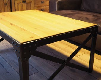 Vintage industrial coffee table design