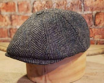 Mister Miller - JACK - Harris Tweed Wool Gatsby  - Newsboy Cap - Peaky Blinders - Newsies - All Sizes