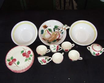 Vintage Blue Ridge and Westwood Floral Dinnerware Set Dishes