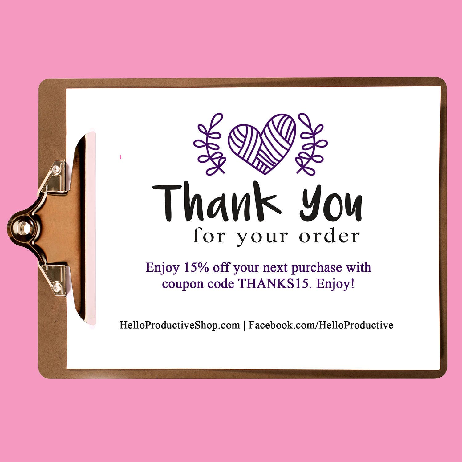 business thank you cards instant download