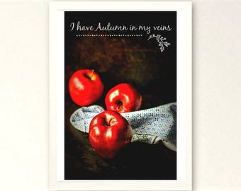 SALE! Red apples wall art