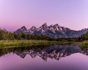 For Purple Mountains Majesty-Grand Tetons Metal Print