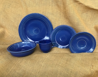 Limited Edition Sapphire Fiestaware *new* 5 peice place setting