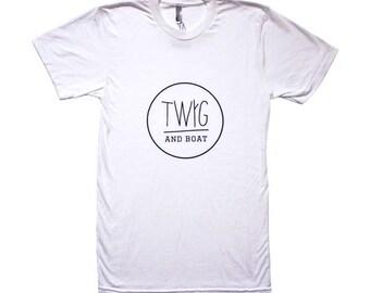 Twig and Boat American Apparel Tshirt