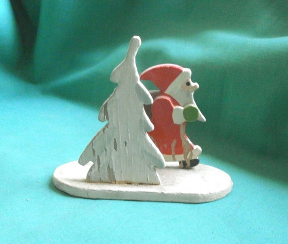 old wooden Santa Claus/Vintage/christmas decoration/Erzgebirge/Germany