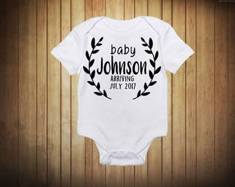Baby Announcement Onesie