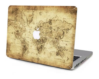 World map decal laptop etsy vintage world old map explorer vinyl sticker skin decal cover top case for apple macbook pro gumiabroncs Choice Image