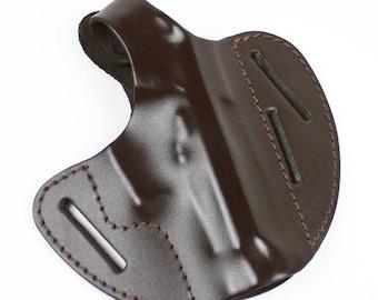 Genuine Leather Belt ( OWB ) Gun Holster - Two Position  For Beretta 84-85