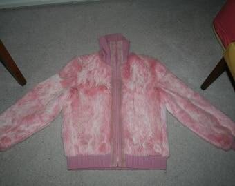 Vintage 1970's Pink Fur Jacket