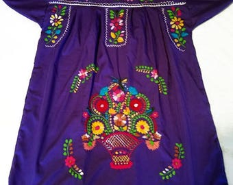 Medium - Purple (Short/Above Knee) Mexican Dress