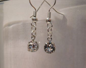 Clear Crystal Dangle Earrings