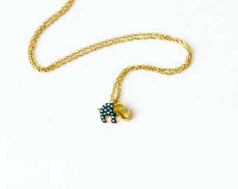 Elephant Charm Turquoise Necklace