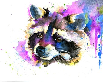 Raccoon - archival prints of my original painting