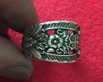 Crown Princess Sterling Silver Spoon Ring International Silver 925