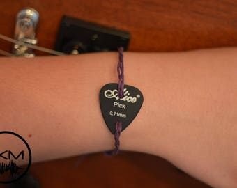 Braided Guitar Pick Plectrum Bracelet