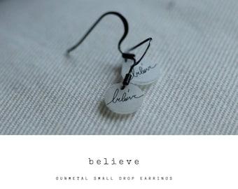 Believe Inspirational Earrings