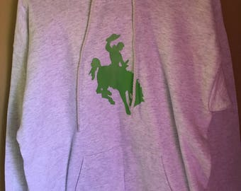 Adult Hoodie with buckin' horse