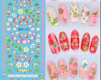 Designer nail decals etsy diy designer water transfer nails art sticker colorful purple fantacy flowers nail stickers wraps foil sticker prinsesfo Gallery
