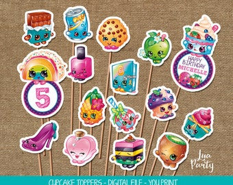 Shopkins cupcake toppers print yourself, Shopkins birthday cupcake toppers, Shopkins birthday cupcake toppers, Shopkins stickers
