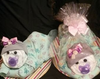 Baby girl diaper baby