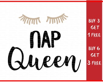 Nap Queen Svg - SVG and PNG Files, Queen Svg, Svg Files For Cricut, Funny Svg, Mom Svg, Svg Designs, Sleep Svg, Silhouette Files, Svg Files