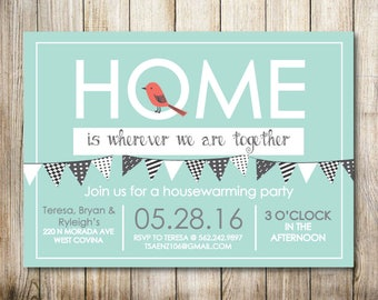 House Warming Party Invitation - Digital Invitation