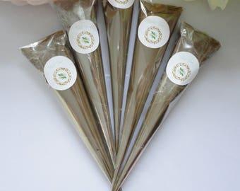 Henna cones, (1-4) Henna Cones Natural, Henna Cones,ready to use henna hones, fresh henna cones, Organic Mehndi, temporary tattoos, body art