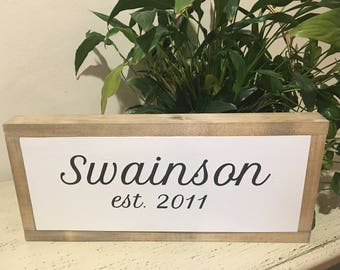 Established Last Name Sign