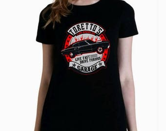 Fast and furious Toretto's garage women girl t shirt different sizes