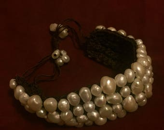 Vintage Woven Pearl Bracelet