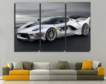 Ferrari 2018 FXX  canvas Ferrari La Ferrari poster Ferrari La Ferrari prints Super Car Racing Car Sport car Monster Machine  Red car print