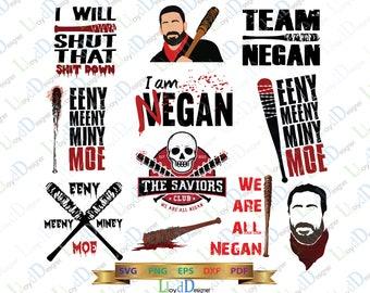 The walking dead Negan svg Walking dead svg The Saviors Walking Dead savior svg Negan lucille bat svg Negan quote svg eps dxf png cut files