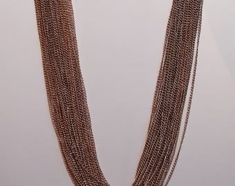 Vintage Multi-Strand Chain Necklace