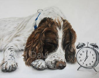 Spaniel Print, Spaniel Painting, Limited Edition Print, Dog Print, Spaniel Artwork, Pet Portrait, Pet Print, Springer Spaniel,