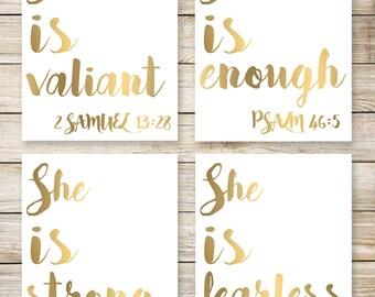 She Is...Wall Art