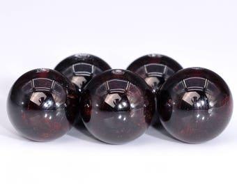 62 / 31 Pcs - 6MM Wine Red Garnet Beads Grade AA Round Genuine Natural Gemstone Loose Beads (100616-300)