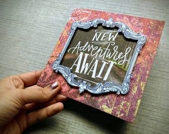 New Adventures Await, Dreamer - Handmade Card
