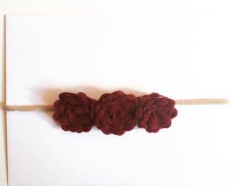 3 flower headband