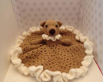 """Beautiful Crochet Baby """"Blankie"""" or """"Lovey"""""""