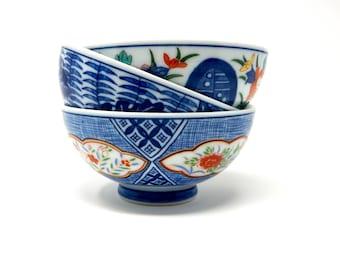 Japanese Rice Bowls, Set of 3