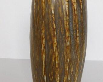 Gunnar Nylund Mid century Design Danish Modern Eames Era Rorstrand Sweden Tan Vase