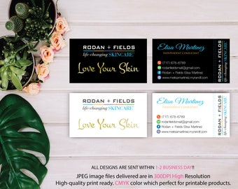 Rodan and Fields Business Card, Rodan and Fields Marketing, Custom Business Card, R+F PERSONALIZED, RF Business card, Printable RF57