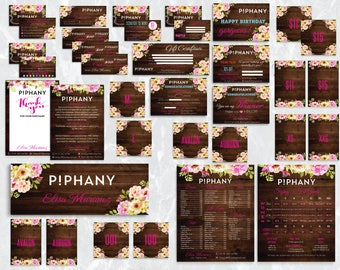PERSONALIZED Piphany Marketing Kit, Piphany Bundle, Custom Piphany Package, Piphany Cards, Wooden Cards, Digital file PIPHANY