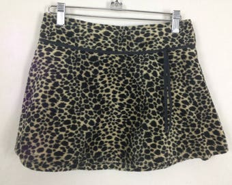 Cheetah leopard skirt size M
