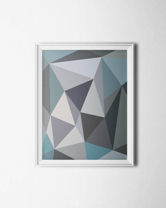 Color Block Print Geometric Wall Art Minimalist Art Digital