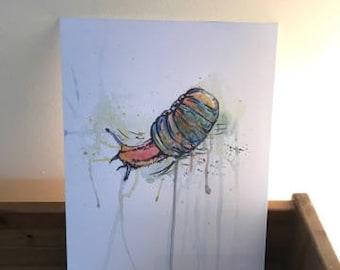 Snail Watercolour Print