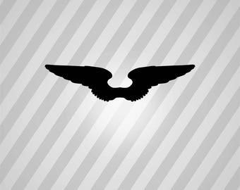 angel wings Silhouette - Svg Dxf Eps Silhouette Rld RDWorks Pdf Png AI Files Digital Cut Vector File Svg File Cricut Laser Cut
