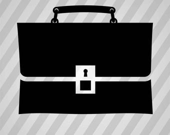 Simple Briefcase Bw  Silhouette -  Svg Dxf Eps Rld Rdworks Pdf Png Ai Files Digital Cut Vector File Svg File Cricut Laser Cut