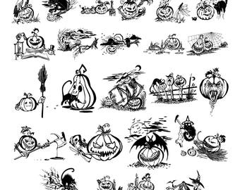 Halloween #2 Svg/Eps/Png/Jpg/Cliparts,Printable, Silhouette and Cricut File !!!