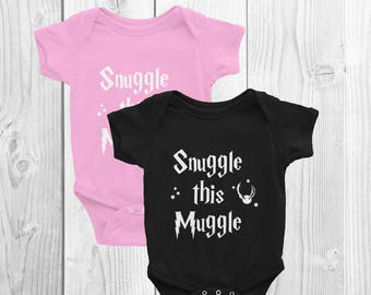 Snuggle this Muggle Infant Bodysuit | Harry Potter Baby Gift | Harry Potter One Piece | Harry Potter Children's Clothes